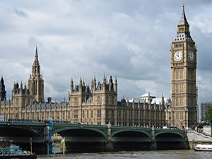 Houses of Parliament across the River Thames