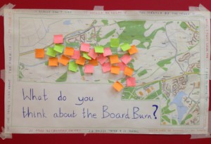 The interests, issues and wishes of the people of Twechar on the Board Burn