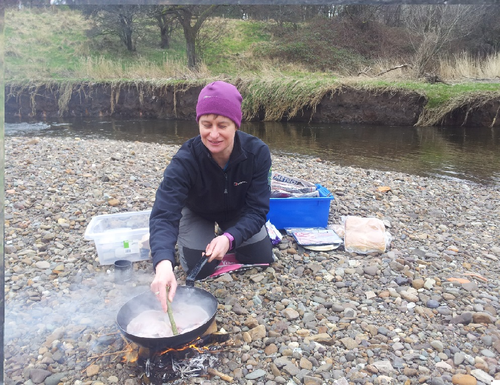 Anna Hamilton making lunch for our volunteers