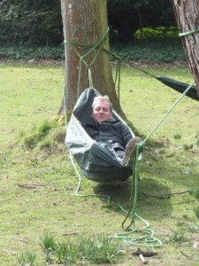 Tim taking some well deserved rest (ahem) for being our team leader