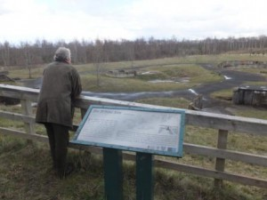 My dear old Dad helping with the reconnaissance mission at the World War 2 Anti Aircraft Battery at Redlees Quarry
