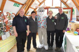 The Cumbernauld Team at the Spring Fling. There is no rabbit in this picture.