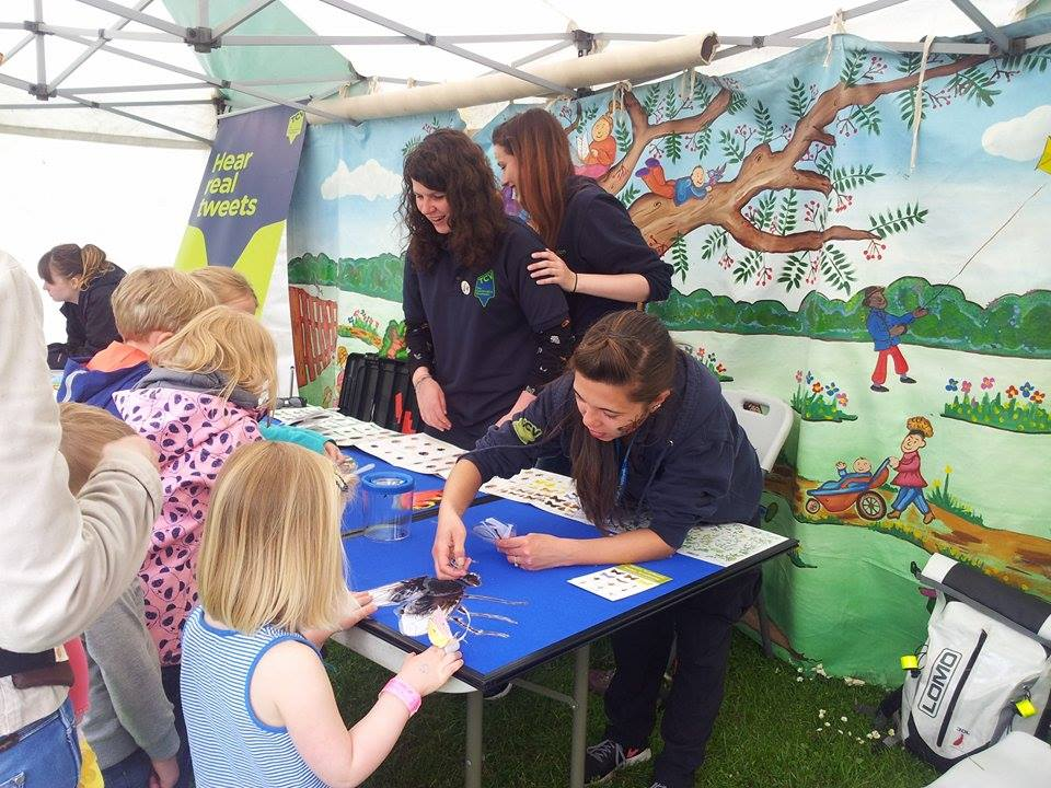 Lucy Graham, Jenny Holmes and Amanda Malcolm at the family activities stand