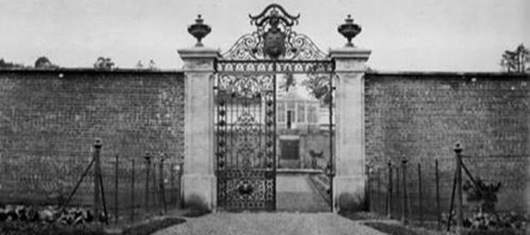 The gate to the Penicuik Gardens when they were still in use