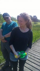 Jess the Dragon whisperer on a brilliant Dragonfly ID course with SWT