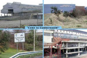 I've been assure that this is an actual postcard issued by the Cumbernauld Development Corporation