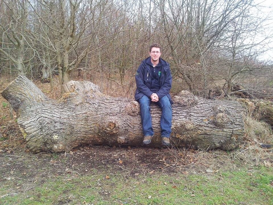 Here's Matt humouring me by sitting on a big bit of deadwood