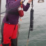 Me pulling the Sondes sampler back on board