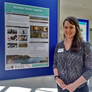 Me and my posteron saline lagoons at the Scottish Freshwater Group conference