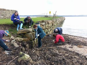 My wellies had an outing again at the Inner Forth Landscape Initiative Rocky Shore Day. Here we are looking for plastic nurdles on Limekilns beach!