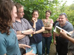 Answering some great questions during the slug ID session