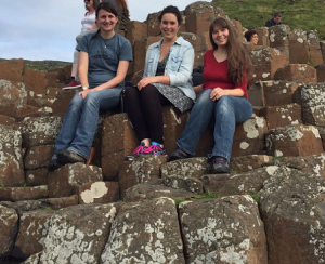 At the beautiful Giant's Causeway with Ellie and Lorna