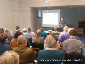 Presenting at the Conchological Society's regional meeting at the museum
