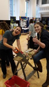 Making a bird box with the help of TCV Natural Networks buddy Delyth