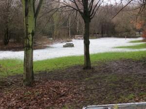 Melting snow at Skelton Grange