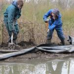 Pond in progress: A big splash at Skelton Grange