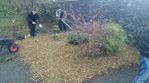 Raking woodchip blog