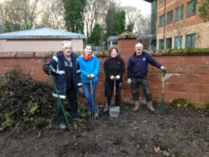 Our (slightly muddy) TCV Stirling Volunteers
