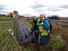 TCV Staff and a Sustrans Wildlife Champion