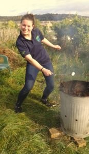 Great fun toasting marshmallows!