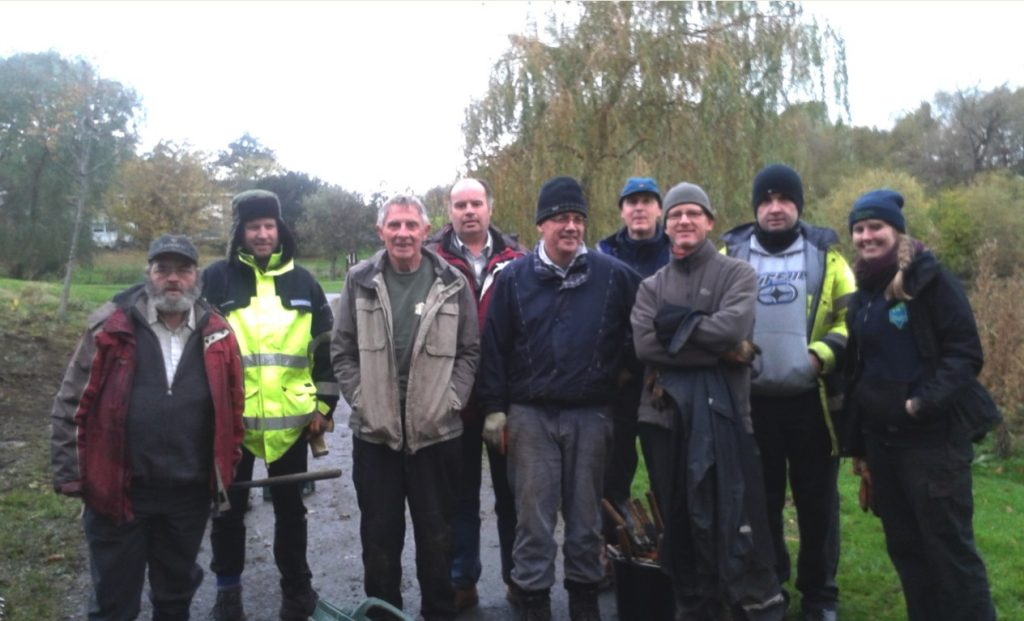 Smiles all round after a hard day's work at Figgate Park