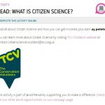 TCV Citizen Science – new partnership with Young Scot and #iwill