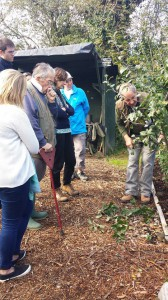 Just one of the pruning workshops in progress with Bob.