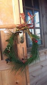 Just one type of wreath we've been making.