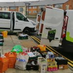TCV vans in Belfast delivering food during lockdown
