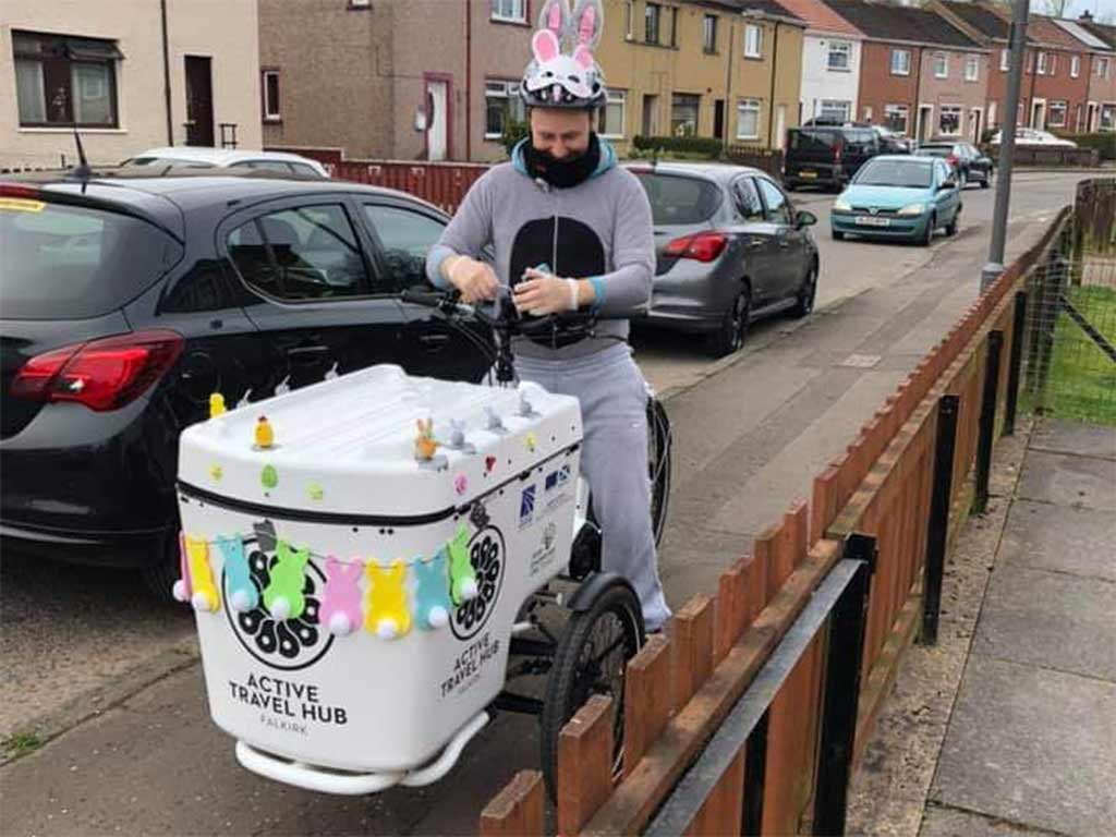 TCV Scotland delivering Easter eggs to local children