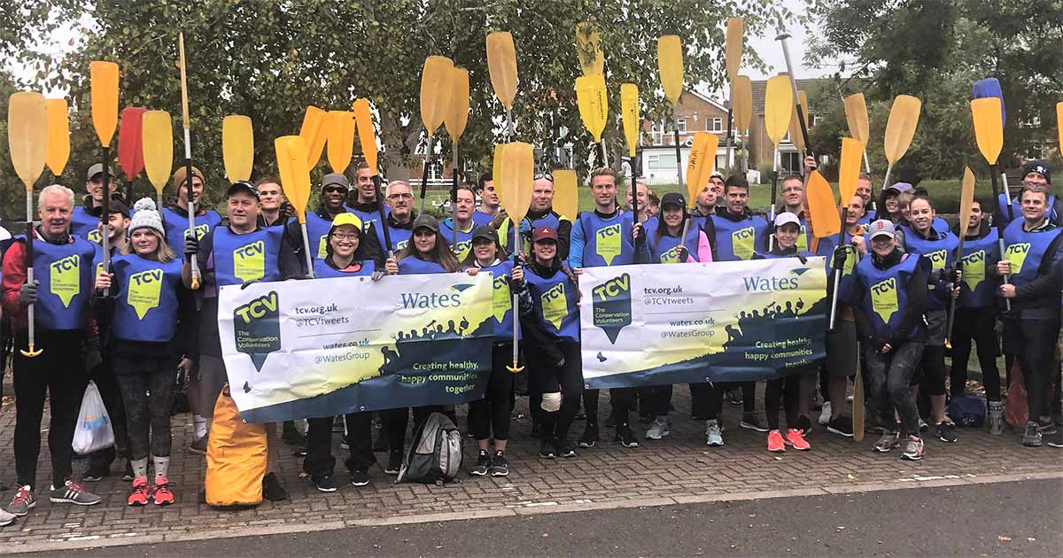 A Wates Group team supporting TCV