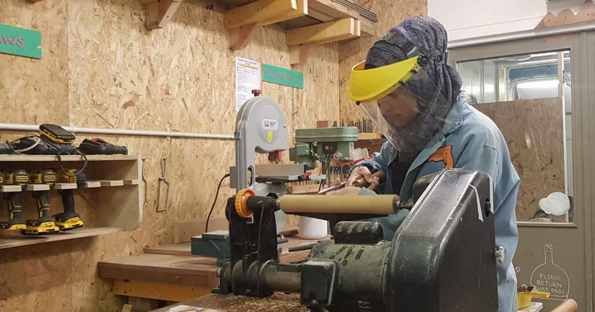 Roba working in a TCV workshop