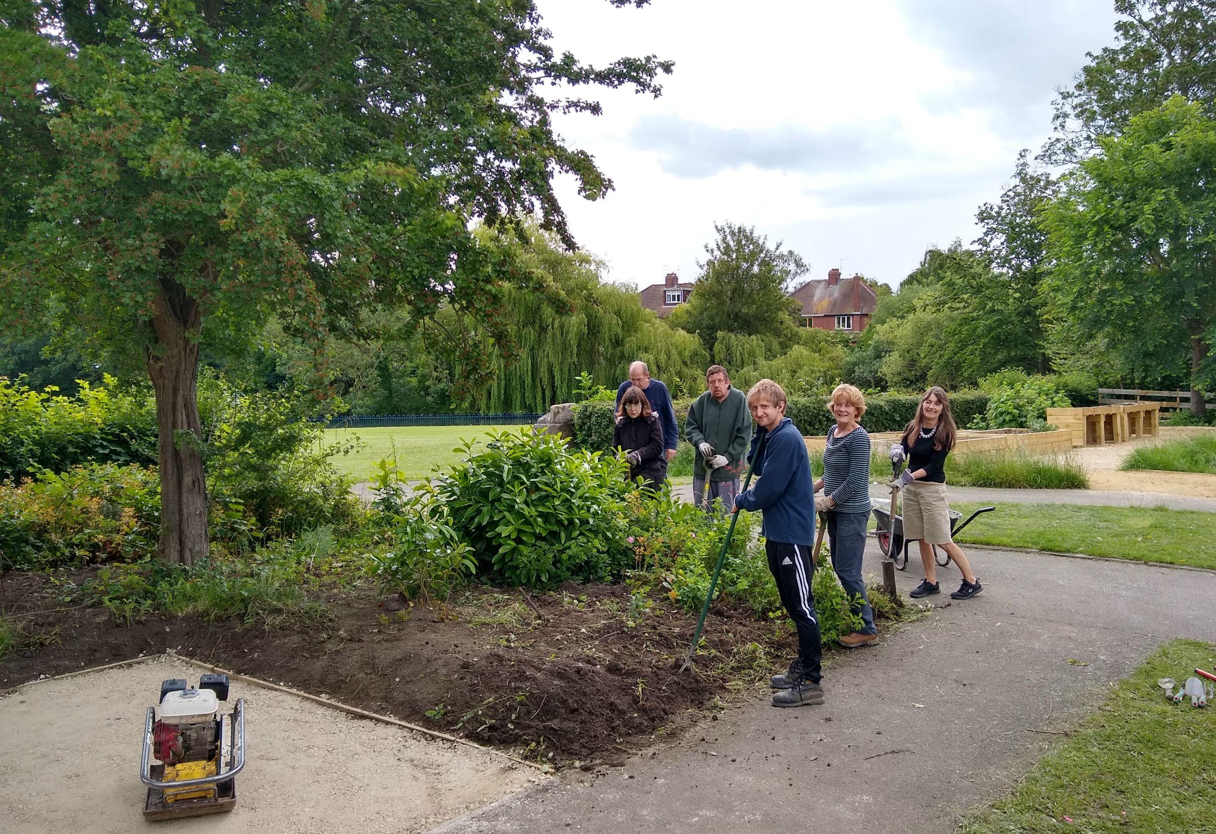 Volunteers at Hull Road Park, York