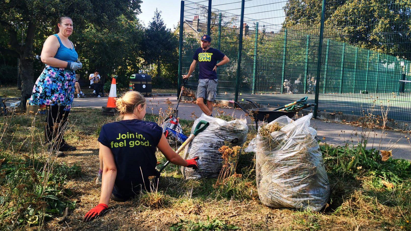 Green Gym volunteers 2020