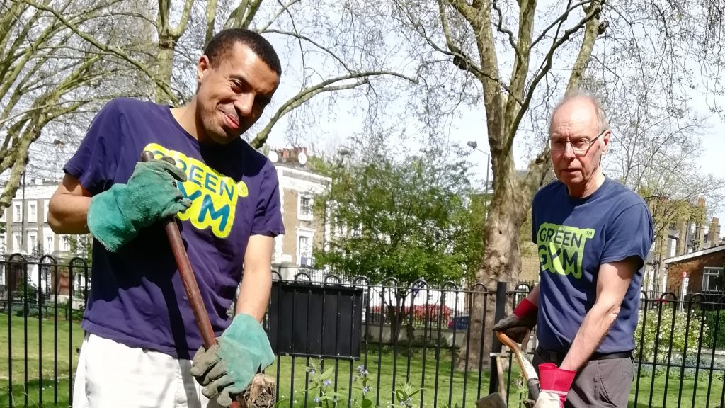 Green Gym volunteers