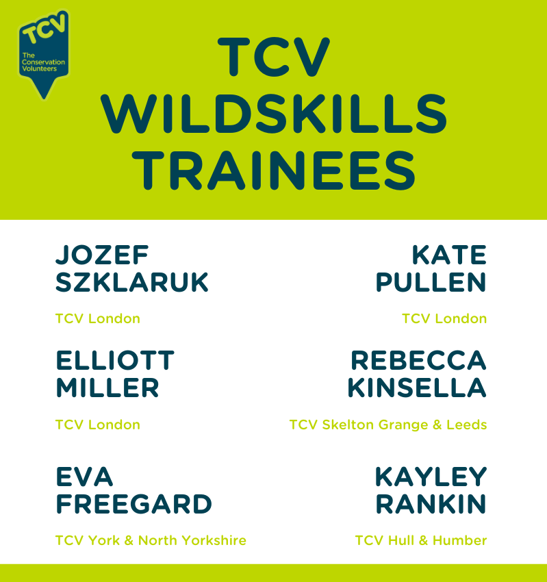 TCV WildSkills trainees from Yorkshire & London