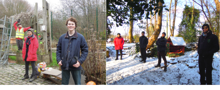 TCV WildSkills trainees at TCV Stave Hill and TCV Dulwich Upper Wood